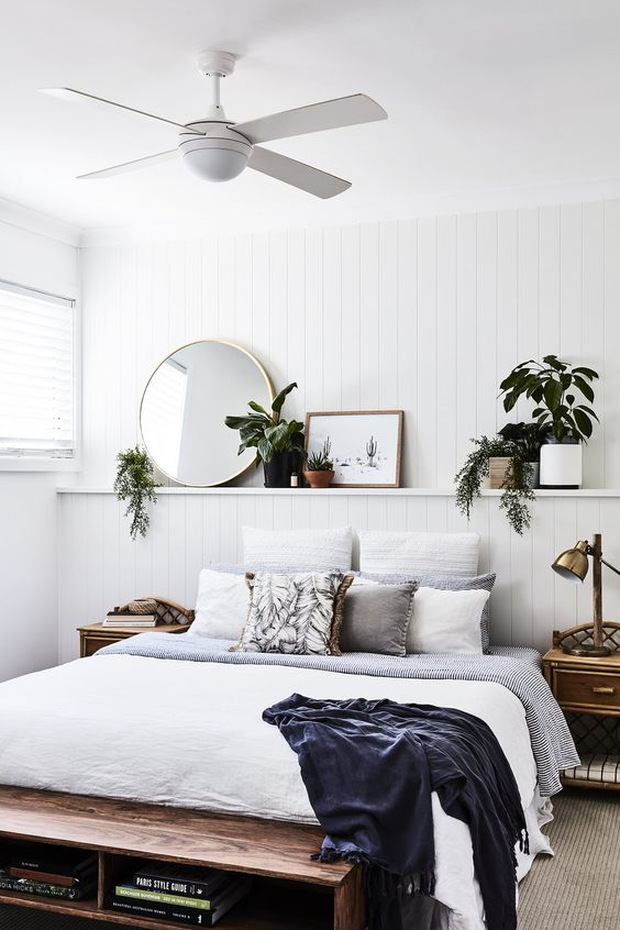 White Bedroom Ideas: Rustic and Captivating