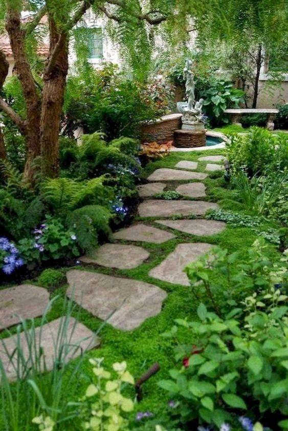 Backyard Garden Ideas: Garden and Fountain