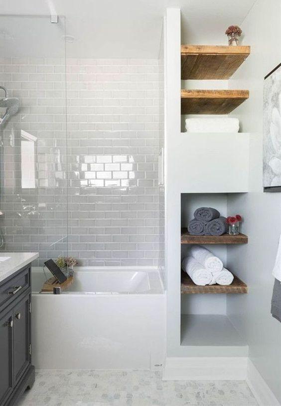 Bathroom Shelves Ideas: Simple Open Shelves