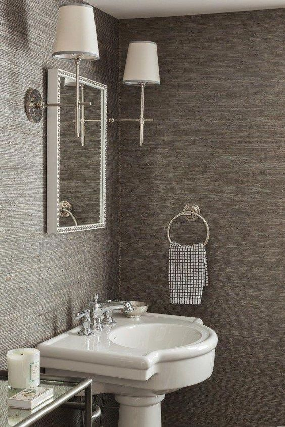 Bathroom Wallpaper Ideas: Beautiful Texture Wallpaper
