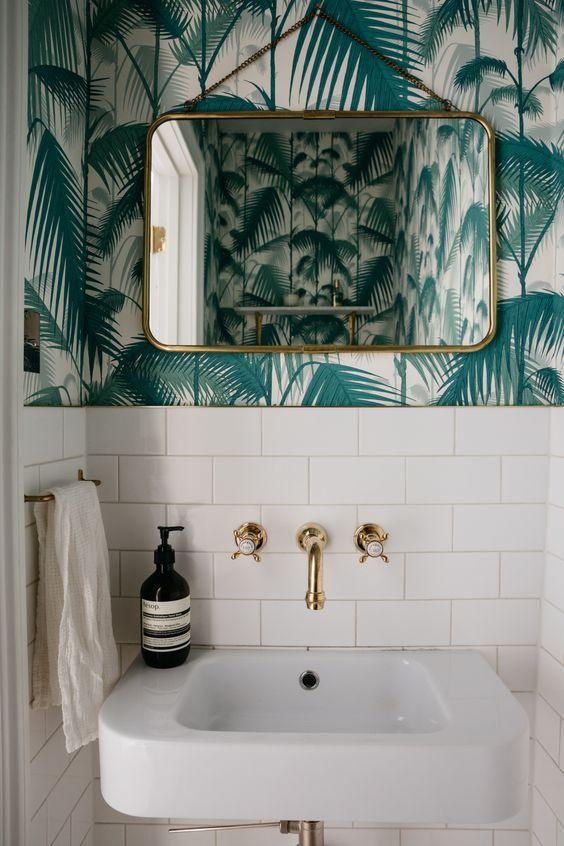 bathroom wallpaper ideas 11