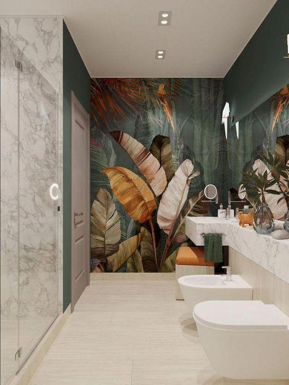 bathroom wallpaper ideas 12