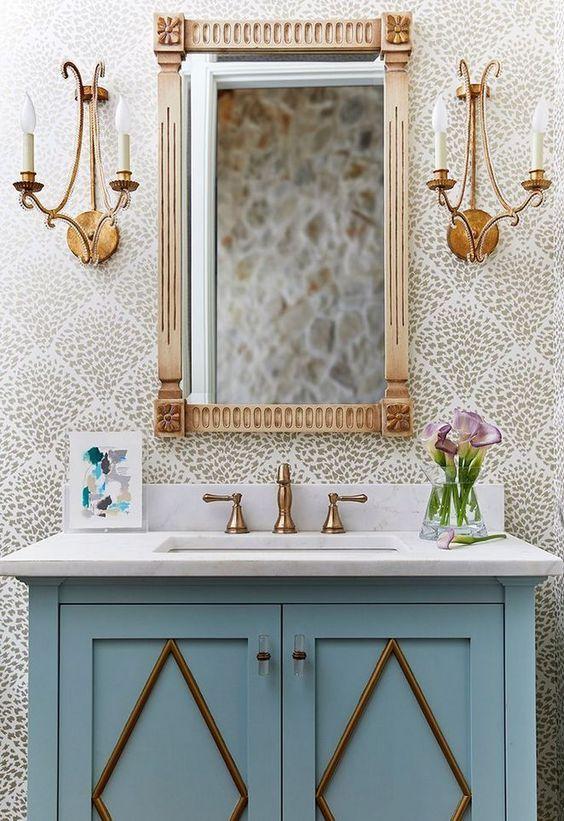 bathroom wallpaper ideas 14