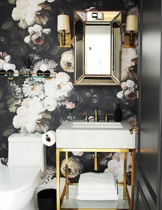 bathroom wallpaper ideas 18