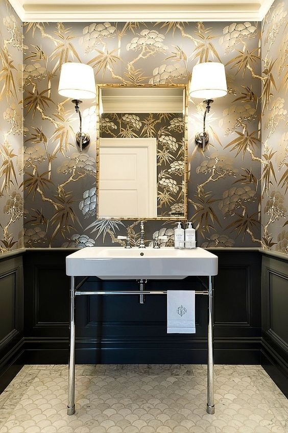 bathroom wallpaper ideas 6