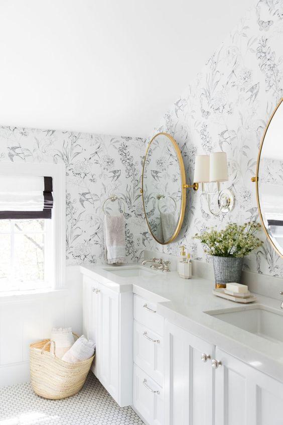 bathroom wallpaper ideas 8