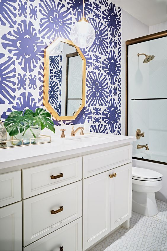 bathroom wallpaper ideas 9