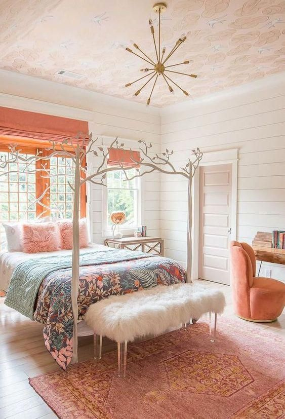 Bedroom Pink Ideas: Sweet Pink and Peach