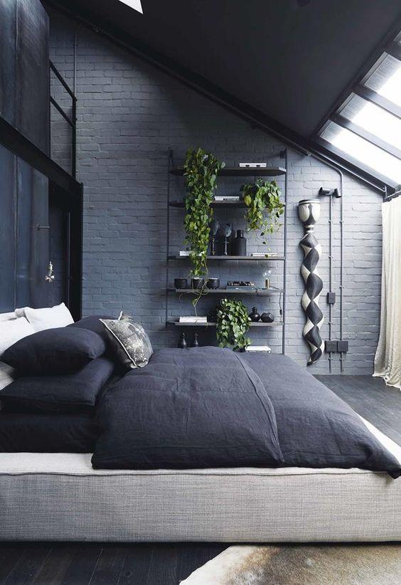 Dark Bedroom Ideas: Jaw-Dropping Industrial Bedroom