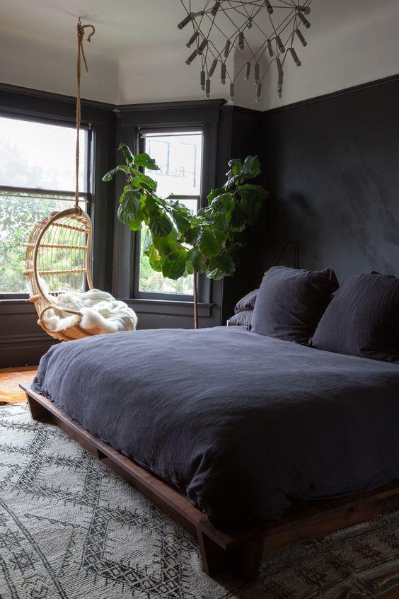 Dark Bedroom Ideas: Matte All Black