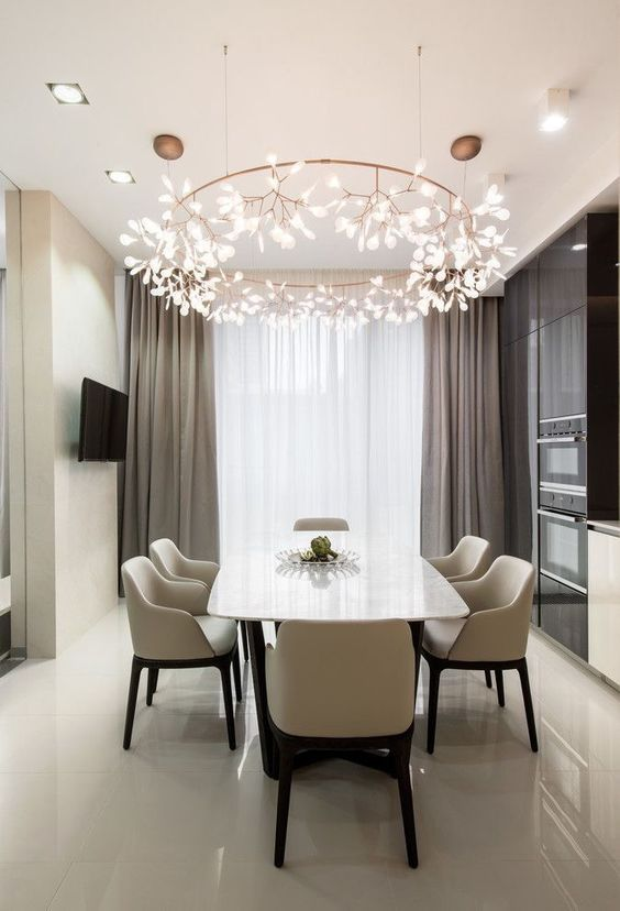 Dining Room Lighting Ideas: Modern Round Chandelier