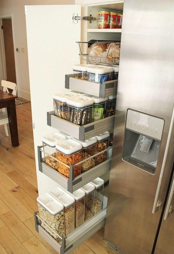Kitchen Storage Ideas: Simple Side Sliding Storage