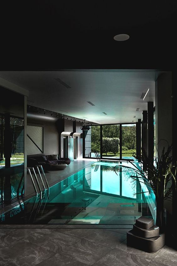 Unique Swimming Pool Ideas: Stylish Black Pool