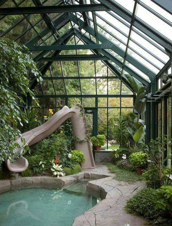 Unique Swimming Pool Ideas: Conservatory Indoor Pool