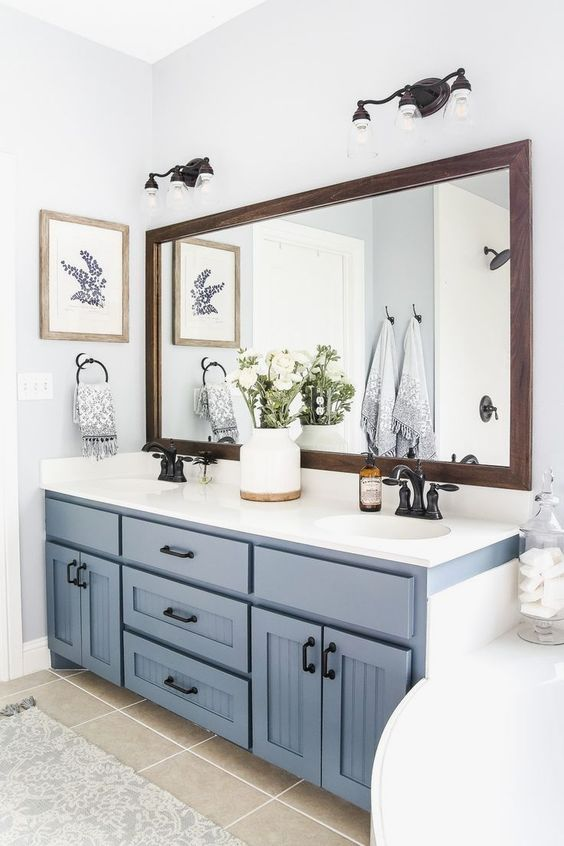 Farmhouse Bathroom Ideas: Clean and Calming