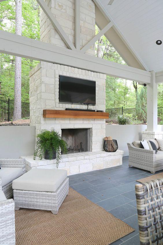 Backyard Fireplace Ideas 11