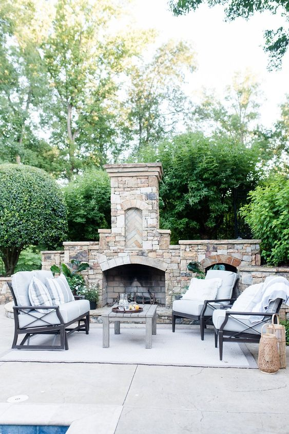 Backyard Fireplace Ideas 14