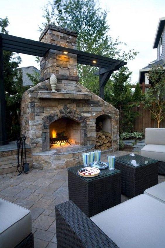Backyard Fireplace Ideas 18