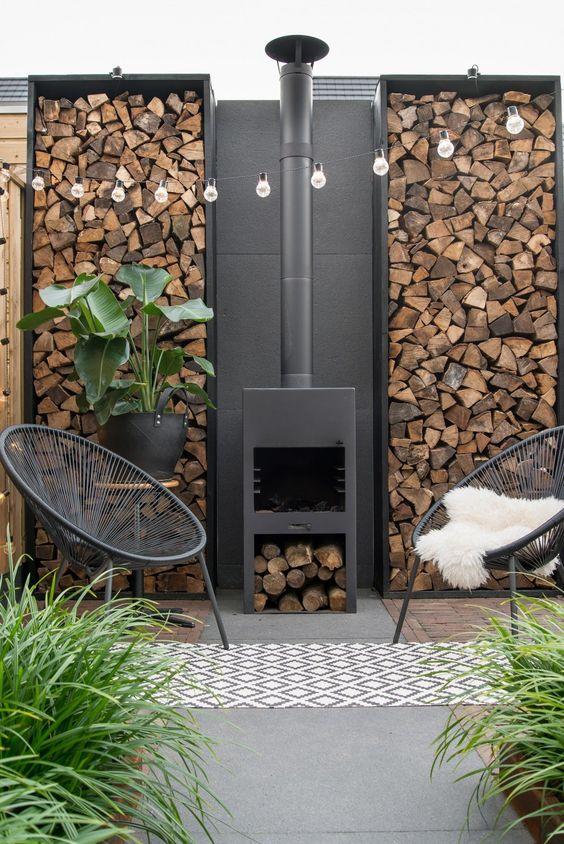 Backyard Fireplace Ideas: Eye-Catching Wood Stacks