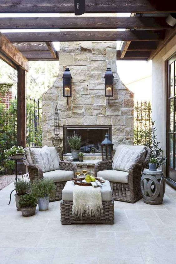 Backyard Fireplace Ideas 5