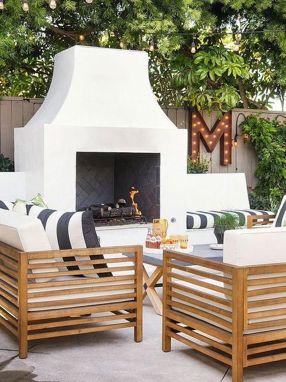 Backyard Fireplace Ideas 7