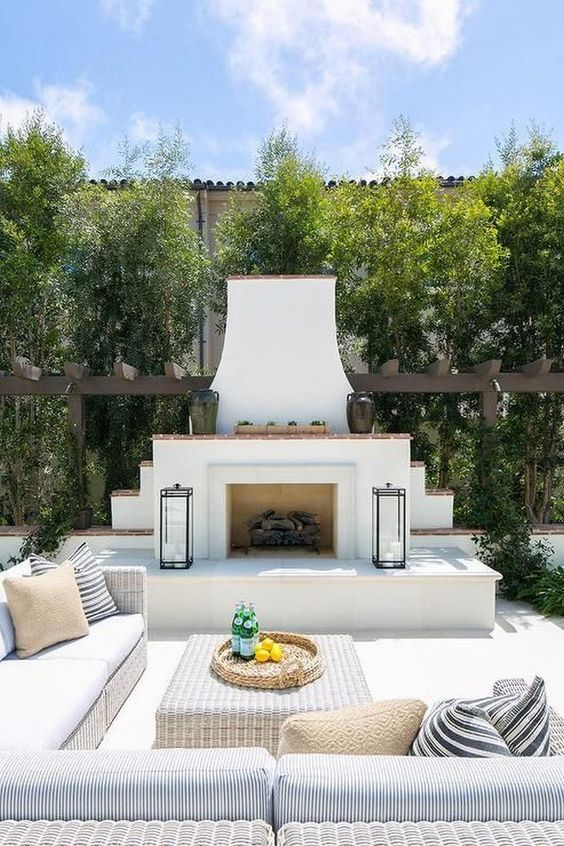 Backyard Fireplace Ideas 9