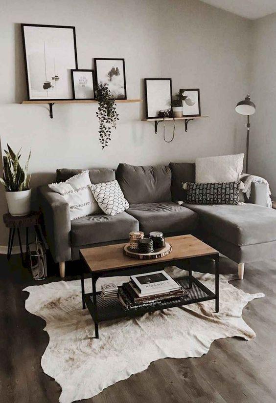 Gray Living Room Ideas 12