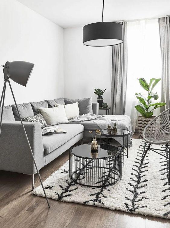 Gray Living Room Ideas 13