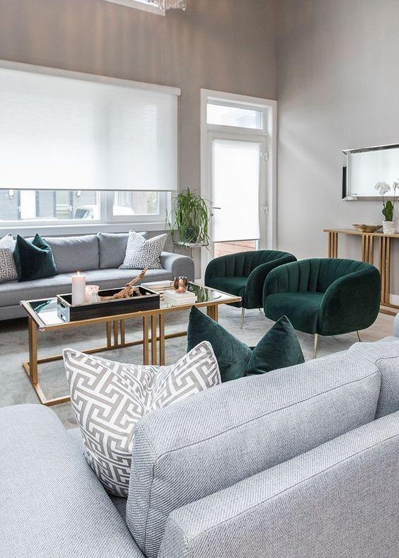 Gray Living Room Ideas 16