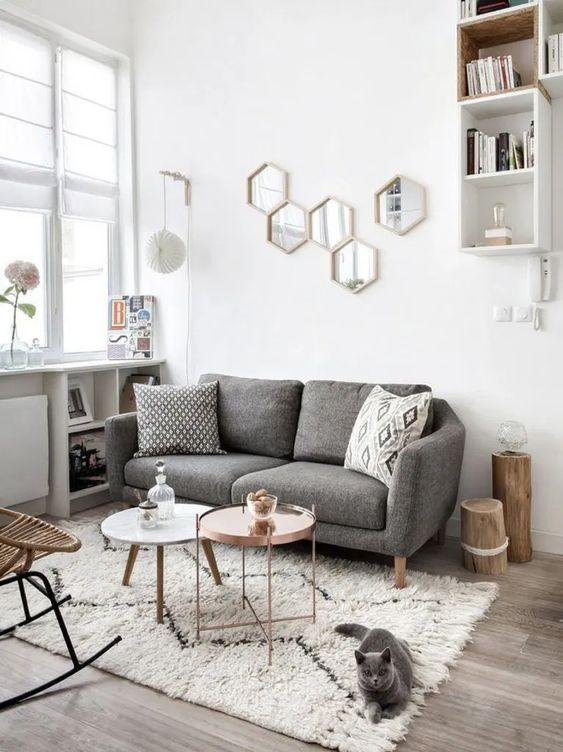 Gray Living Room Ideas 17