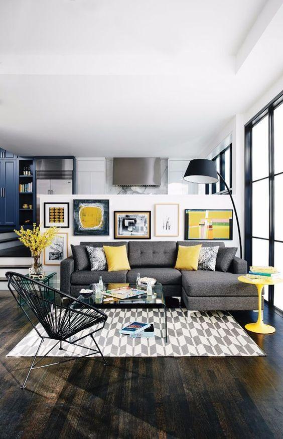 Gray Living Room Ideas 18