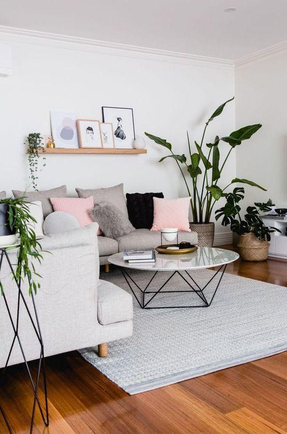 Gray Living Room Ideas 19
