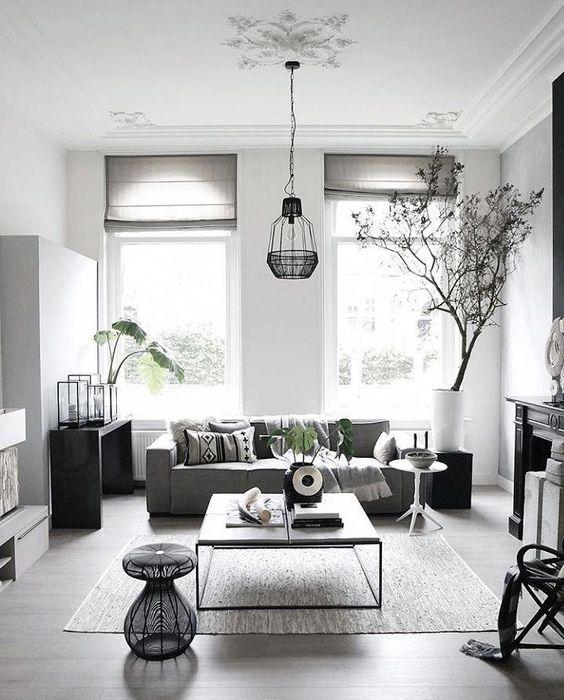 Gray Living Room Ideas: Modern Minimalist Contemporary