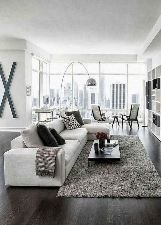 Gray Living Room Ideas: Modern Monochromatic Space