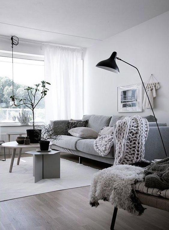 Gray Living Room Ideas 8