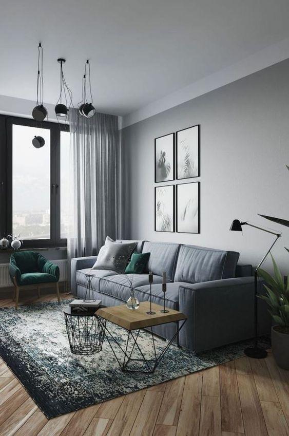 Gray Living Room Ideas 9