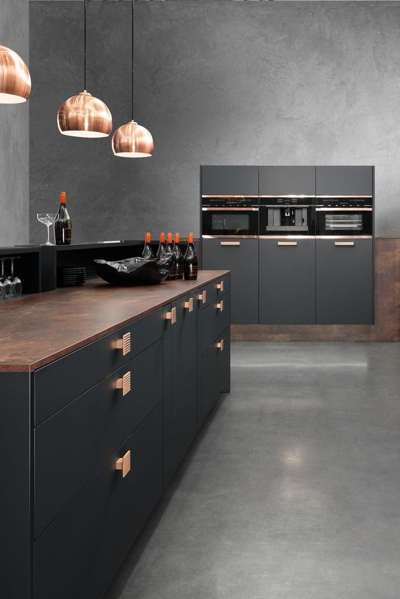 Kitchen Color Ideas: Breathtaking Gray Concrete