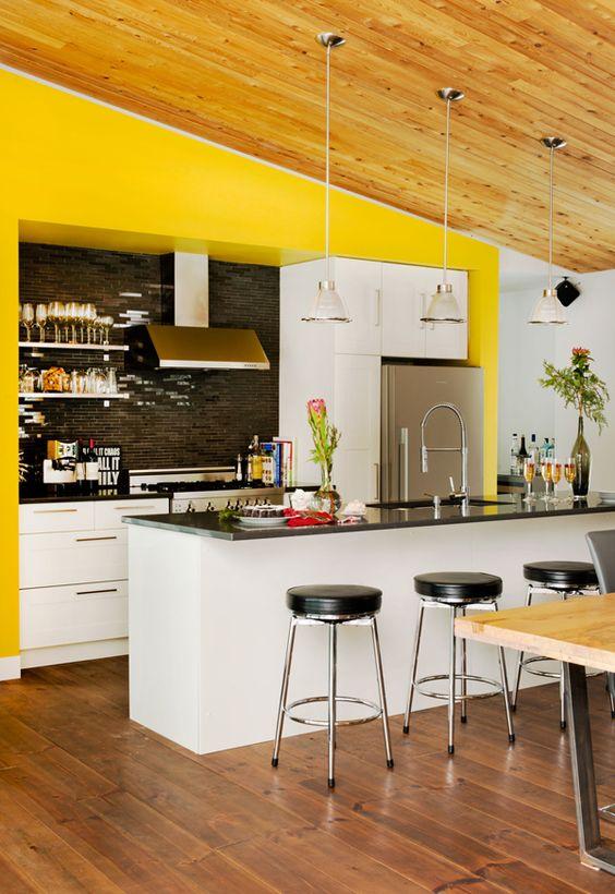 Kitchen Color Ideas: Bright Pop-Out Color