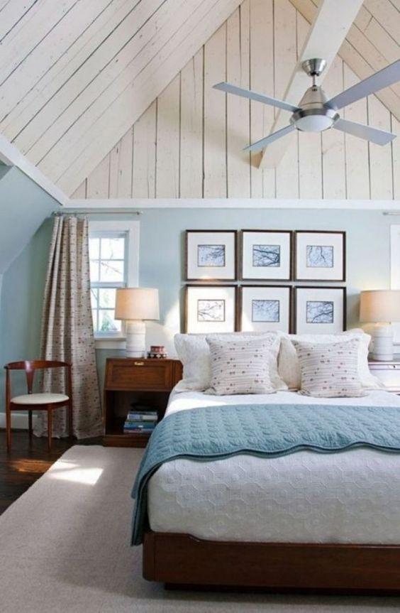 Beach Bedroom Ideas: Enchanting Attic Bedroom