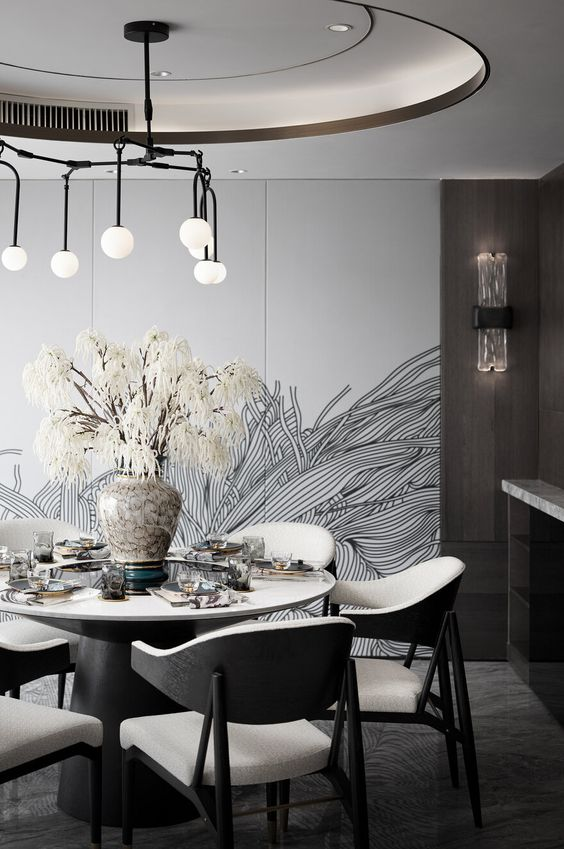 Contemporary Dining Room Ideas: Decorative Minimalist Spot